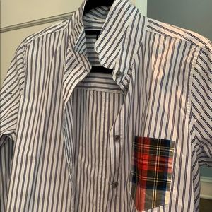 JCREW women's tartan and striped boy-shirt